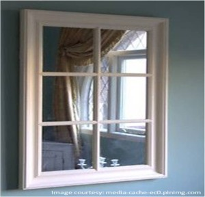 A fake window using mirror