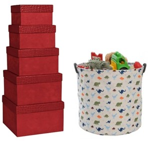 Use boxes, bins and baskets