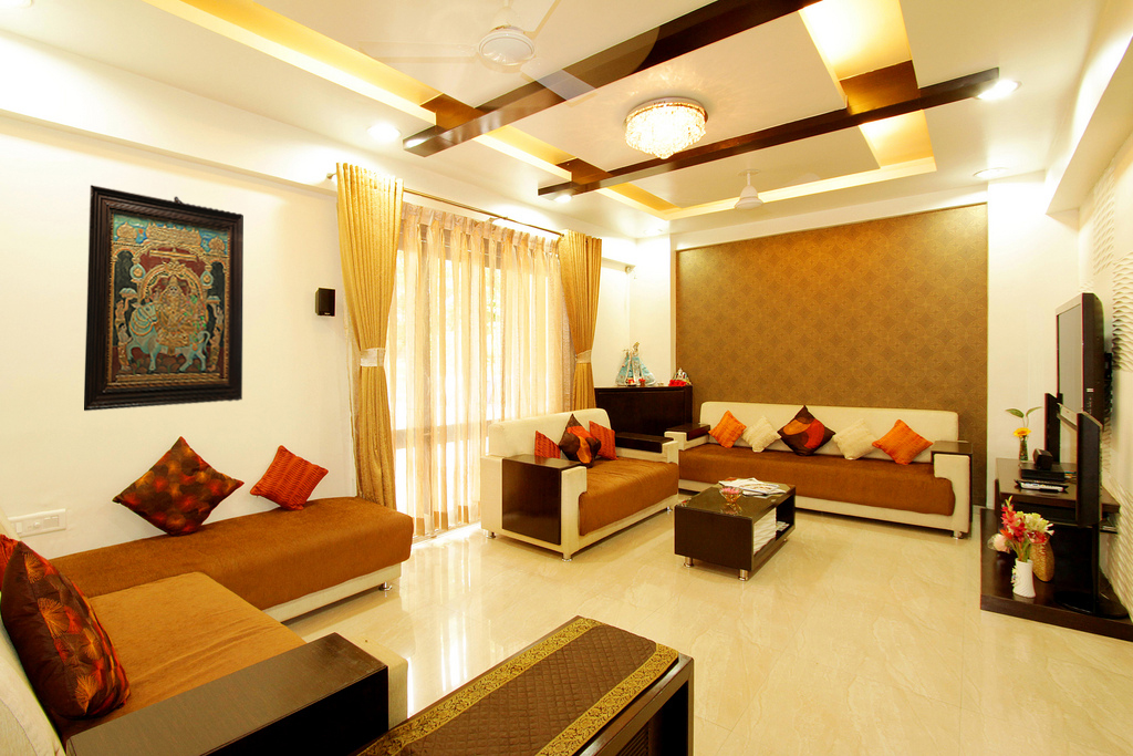 Traditional meets contemporary jaluk for Indian ethnic living room designs