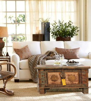 Living Room Storage Ideas Trunk Coffee Table